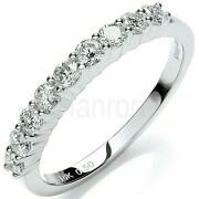 Certificated Diamond Eternity Ring 18k White Gold Large Sizes R-z British Made