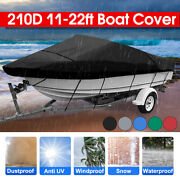 Waterproof Boat Cover 11-13and039 14-16and039 17-19and039 20-22and039 Fishing Speed Ski V-hull 210d