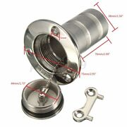 1.5and039and039 Boat Marine Deck Fill Filler Port Key Cap Gas Fuel Tank 316 Steel Usa