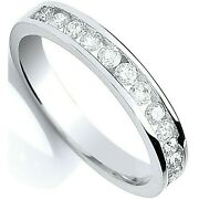 Certificated Diamond Eternity Ring Channel Set 18k White Gold Large Size R-z