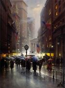 Canyon Of Dreams - Wall St - Harvey - Artist Prosigned And Number-ltd Ed Serigraph