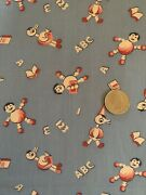 Vtg.30s 40s Cotton Childrenand039s Juvenile Novelty Toys Ducks And Abcandrsquos 36andrdquow 23 3/4andrdquo