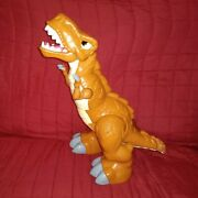 Fisher Price Imaginext Mega T-rex Animated Sounds Motion Brown 19in Dinosaur 11