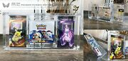 Ark-10x Pokemon All Booster Box And Theme Deck Acrylic Storage Clear Display Case