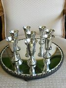 Antique Sterling Silver Cordials Lot Of 8200.4 Dwt Weight Free Ship