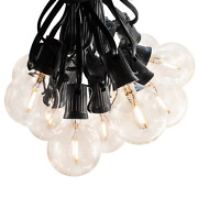 G50 Led Filament Outdoor Patio Globe String Lights 25and039 50and039 And 100and039 Lengths