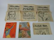Montreal Canada Vintage Football Journals And Newspapers 1958 Unmarked, Beer Ads
