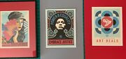 Shepard Fairey, Three Prints For Art Of Elysium Art Heals Matted And Framed