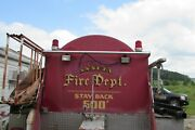 1978 Ford F-700 Fire Truck 2000 Gallon Steel Water Tank-bed And All Go 2795