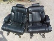 1990 + Lincoln Town Car Front And Back Black Leather Seats