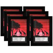 Americanflat Black Picture Frame- 6 Pack- Available In 4x6 5x7 8x10