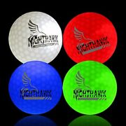4 Light Activated Led Light Up Golf Balls Glow In The Dark Official Size Weight