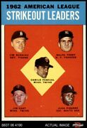 1963 Topps 10 Jim Bunning / Cami Twins / Tigers / Yankees / White Sox 8 - Nm/mt