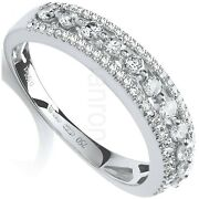 Certificated Diamond Eternity Ring 18k White Gold 0.65ctw Band Large Sizes R - Z
