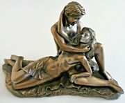 Figurines Lovers Entwined Sensual Couple Erotic Nude Ornament Bronze Resin