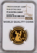 1982 Dominican Republic Gold 200 Pesos Year Of The Child Ngc Pf66 Low Mintage