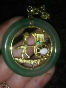 Lot Of Vintage Jade Chinese Jewelry Necklaces Pendants Mix Lot Rare