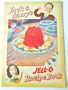 1937 Jello Cookbooklet By Jack Benny And Mary Livingstone