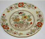 Collectible Antiqie Xix Century Masons Flower Ironstone China Decorative Plate