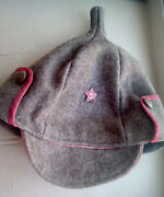 Genuine Military Hat Budenovka Part Of The Communist Military Uniforms
