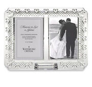Waterford New In Box Crystal Wedding/baby Announcement Picture 4x6 Frame Hearts