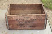 Huge Antique Wood Box Crate The Manhattan Storage And Warehouse Co. New York