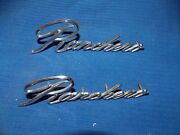 70 Ford Ranchero Emblems Front Fender Script Pair With Pins 71 72 73 74 75 76