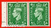 Sg. 505d. Qb28. 1½d Pale Green. Mounted Mint Complete Cylinder Pane Of T B49677