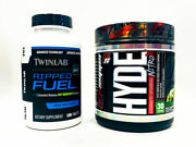2 Pack Twinlab Ripped Fuel Fat Burner 120 Tabs + Hyde Nitro X Pre Workout Apple