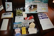 Great White Fleet Large Lot 1950s Pen, Tickets, Radio News, Baggage And Boarding E