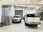 Heat Welded Spray Booth Garage Auto Body Curtains And Radius Track Grey/clear