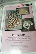Scrap Therapy Tripple Dip Pattern Quilt Table Topper Or Pillowcase St-212