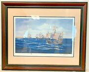 Matted And Framed John Richard Perry Print The Ships Of Columbussigned