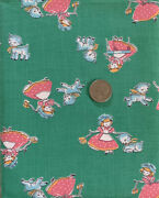 Vtg.30s 40s Cotton Childrenand039s Juvenile Novelty Mary Had A Little Lamb 35.5andrdquow17andrdquol