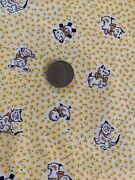 Vtg.30s 40s Cotton Childrenand039s Juvenile Novelty Dogs Cats Bunnies 35andrdquow23andrdquol