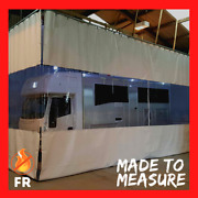 White / Clear Workshop Spray Painting Room Curtains And Heavy Duty Track