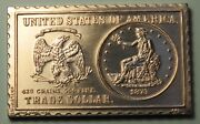 1873 United States Liberty Seated Trade Dollar Numistamp Medal 1976 Mort Reed