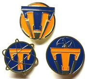 Tomorrowland Pins - Limited Edition Set Of 3 - George Clooney Movie And World Fair