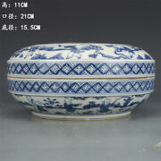 8.2 Antique Old China Porcelain Chenghua Mark Blue White Baby Play Pot
