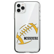 Clear Case For Iphone Pick Model Missouri Football Gold Black
