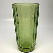 One Vintage Avocado Green Pressed Glass Drinking Glass Tumbler 5 1/2 Choose Qty