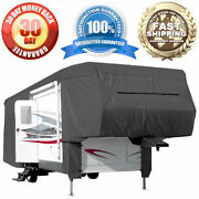 33and039-37and039 All-weather Rv Motorhome Trailer Outdoor Cover 5th Wheel Toy Hauler