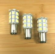 3 Bbt Marine Grade 12 Volt 27 Led 1142 White Double Contact Light Bulbs
