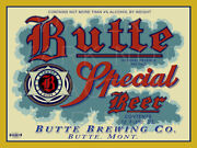 24 X 18 Reproduced Butte Special Beer Label Butte Brg Co On Canvas