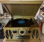 Spirit Of St. Louis Phonograph Record Player Cd Player Radio Am/fm And Phono