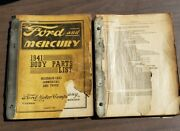 1941 Ford And Mercury Dealer Body Parts And List Book Cars Trucks