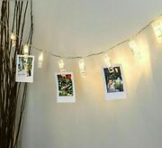 Led String Christmas Lights With Card Photo Clips Holder Living Room Decorations