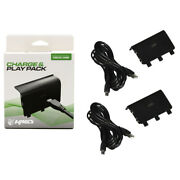2 X Microsoft Xbox One Black Play And Charge Pak Adapter Kmd Kmd-xb1-5945 New