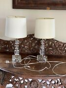 Vintage Pair Of Lucite Lamps 1940s