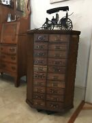 Antique Rotating Hardware Store Nut /bolt Cabinet A. R. Brown Erwin Tn